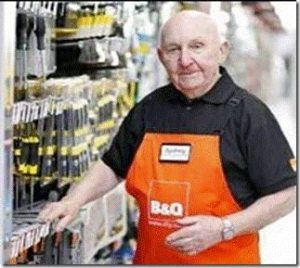 Old B&Q greeter