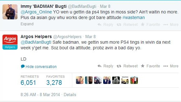 Argos Helpers tweets epic reply to Immy 'BADMAN' Bugti about PS4
